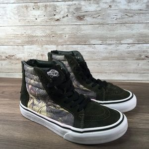 Vans Hightop Skateboard Dinosaur Sneakers Boys